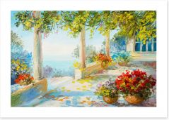 Terrace near the sea Art Print 106285998