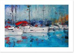 At the marina Art Print 107268559