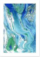 Turquoise flow Art Print 108525134