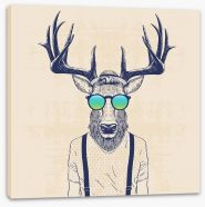 Hipster deer Stretched Canvas 110031812