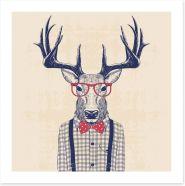 Nerd deer Art Print 110032001