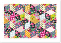 Patchwork Art Print 114062372