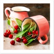 Cherry cup Art Print 115157151
