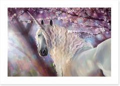 Unicorn in the blossom Art Print 116187757