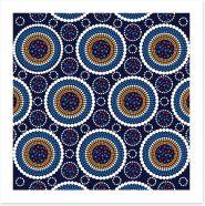 Symmetry of circles Art Print 118385559