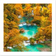 Turquoise fall