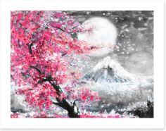 Sakura evening Art Print 120794247