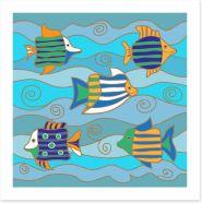 Happy fish Art Print 122255587