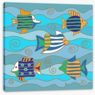 Happy fish Stretched Canvas 122255587