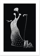 The lady with a poodle Art Print 123342212