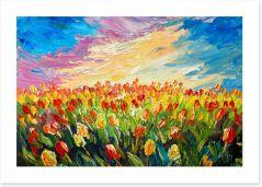 Tulips at sunrise Art Print 125303235