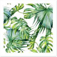 Tropical jungle leaves Art Print 126979238