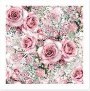 Pink vintage roses Art Print 128170661