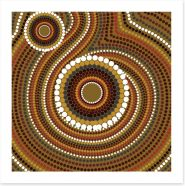 Aboriginal Art Art Print 128874458