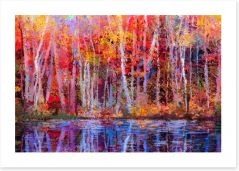 Aspens by the lake Art Print 129052678