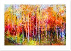 Aspen autumn Art Print 129052783
