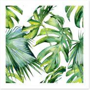 Tropical jungle leaves Art Print 130874879