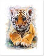 Little tiger Art Print 135461997
