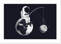 Rockets and Robots Art Print 152768700