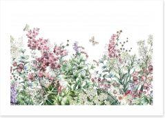 Botanical blooms Art Print 153533338