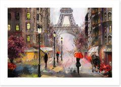 Dusk falls in Paris Art Print 167017446