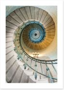 The lighthouse staircase Art Print 16967040