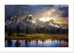 Mountains Art Print 171366185