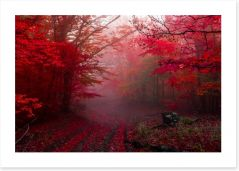 Red forest mist Art Print 178499149