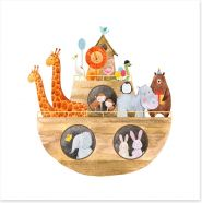 Animal Friends Art Print 182367516