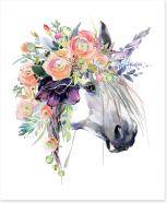 Boho unicorn Art Print 182615052