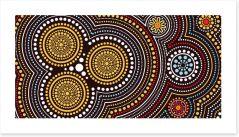 Aboriginal Art Art Print 199748296