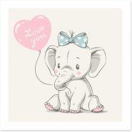 Elephants Art Print 204155076
