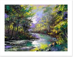 River through the woods