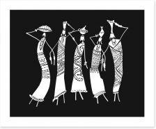 African Art Art Print 216592536