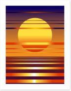 Contemporary sunset Art Print 22766294