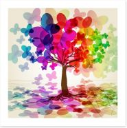 Colourful butterfly tree Art Print 23502281
