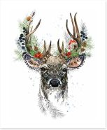 Forest reindeer Art Print 239121800