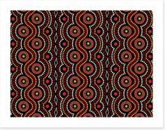 Dot Painting Art Print 239185765