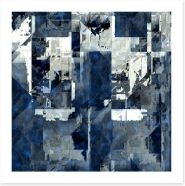 Steely blue Art Print 24542884
