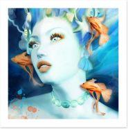 Mermaid surprise Art Print 249611896