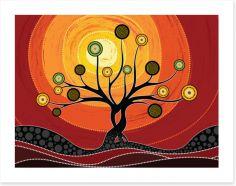 Dot Painting Art Print 265150468