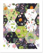 Patchwork Art Print 271055369