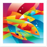 Colourful fishes in the coral Art Print 27873198