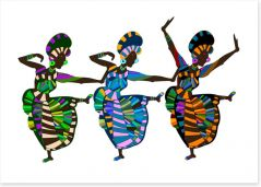 African Art Art Print 27980632