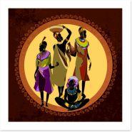 African Art Art Print 280832571
