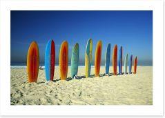 Surfboards on the beach Art Print 28311139