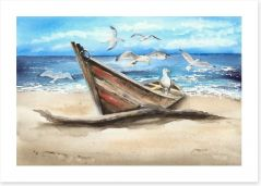 Beached with the birds Art Print 284992898
