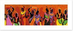 African Art Art Print 288628025