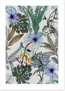Silver leaf Art Print 293158976