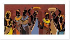 African Art Art Print 294127379